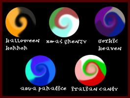 Color Swirl Palette adopts Set 3 :CLOSE: by PurrsChibiDream