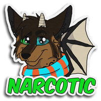 Narcotic Badge -PC- by RiverBelle