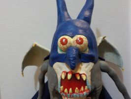 Vampire Batman Potatohead closeup of eyes  mouth by Potatoheadmaster