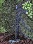 Feathered Man and Tree of All Seasons by darkallegiance666