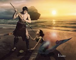 The barbarian and the siren by Julianez