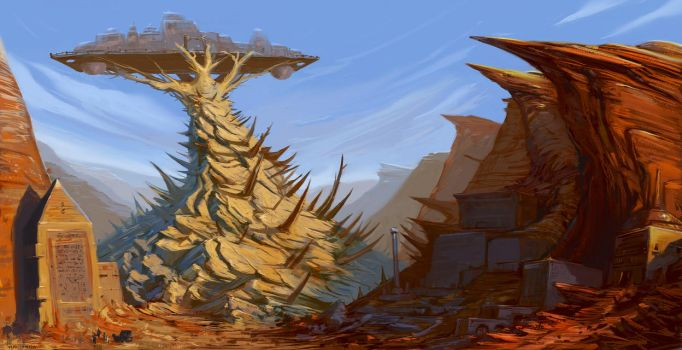 The lost city of Thorns by saltytowel