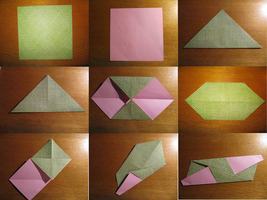 30 modules origami step by step : step 1.1 by human-chaos