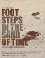 Footsteps in the Sand Church Flyer Template by loswl