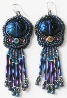 Dragonfly Earrings 1 by Bev-Choy