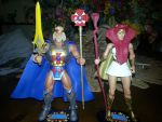 King He-man and Sorceress Teela by wyldman11