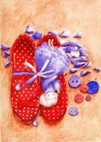Red shoes by SirenAria