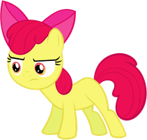 Quizzical Apple Bloom by flutterguy317
