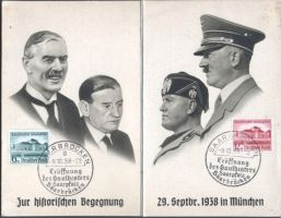 German postcard - Munich Agreement by YamaLama1986
