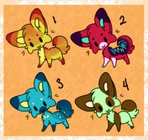 Cute Thangs 1 Adoptables (SOLD) by Roespls