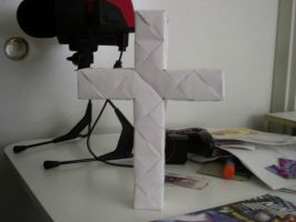 Origami Cross by origamidude