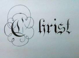 Christ by TheCalligraphyGuy