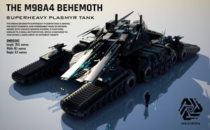 M98A4 Behemoth Superheavy Plasmyr Tank (FULL HD) by Duskie-06