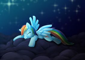 Rainbow Dash Sleeping by TheBrokenTV