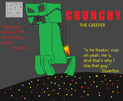Minecraft Crunchy the Creeper by echosnake
