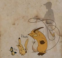 Raichu and cie by UmbreoNoctie