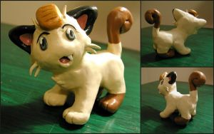 Meowth Figure by LeiliaClay