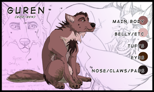 Smelly Guren- Ref sheet by Gashu-Monsata