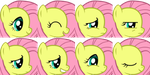 MLP Emotion set Fluttershy by NeoBolt