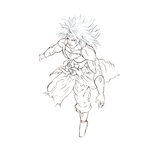 Broly Wip by aetherxragnell