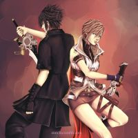 Lightning and noctis by atutcha