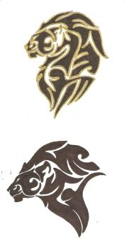 Lion Heads by Bookwyrmsk