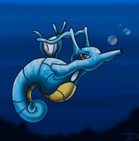 Kingdra by DarkFeather