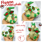Flygon plush by SilkenCat