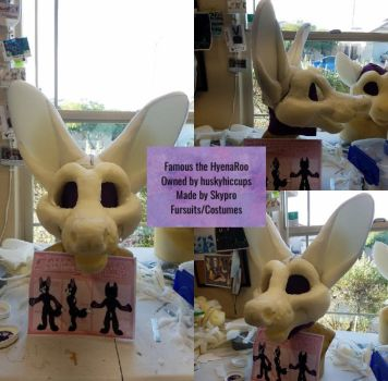 Famous the HyenaRoo Fursuit WIP by Skypro Costumes by huskyhiccups