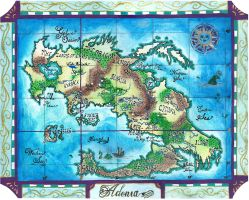 Map of Adonia by EmiliaArgon