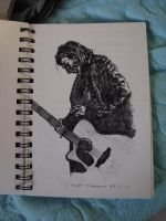 drawing of Kurt cobain by ysmk