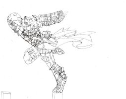 mercenary assassin inked by DeathRage22