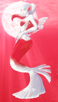 Red Mermaid by Rone-Chan