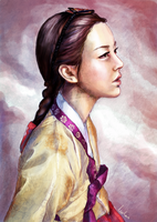 Illustratively in hanbok by canitiem