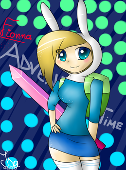 Adventure Time Fionna-Anime by isabella46321321