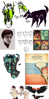 Sketchdump-March by Stitchy-Face