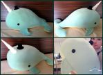 Giant adorable whale plushie by ValkyriaCreations