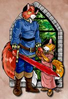 Lone Fox and Kit by DaphneLage