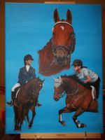 Horse painting I by Maff-chan