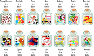In A Bottle Designs by MidniteHearts