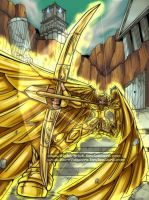 Saint Seiya- Aioros gold saint by Night-mist