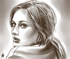 Adele sketch by MauroIllustrator