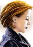Gillian Anderson miniature by whu-wei