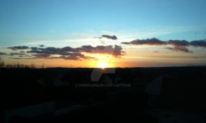 Sunset On Town by xdeeplake