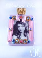 Vintage Chic Bow Lilac Pendant by Nene-Crafts