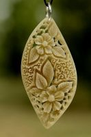 pendant 2 - bone carving by manuroartis