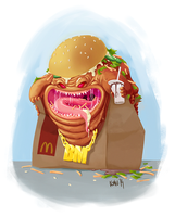 Bigmac creature by szlapa