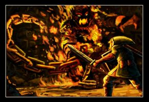 Link Vs. The Fire Boss by VegasMike