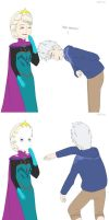 Jack vs. Elsa by almichi
