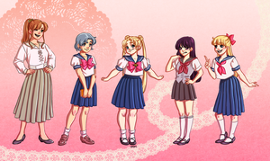 Sailor Moon Body Types by KittyCatKissu